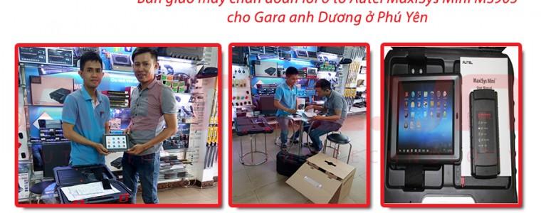 Bàn giao máy chẩn đoán lỗi ô tô Autel MaxiSys Mini MS905 cho Garage anh Dương ở Phú Yên