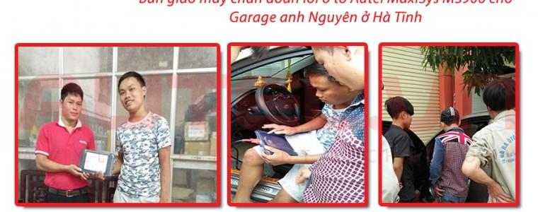 Bàn giao máy chẩn đoán lỗi ô tô Autel MaxiSys MS906 cho Garage anh Nguyên ở Hà Tĩnh
