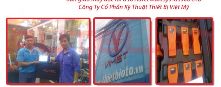 Bàn giao máy đọc lỗi ô tô Autel MaxiSys MS906 cho Công Ty Cổ Phần Kỹ Thuật Thiết Bị Việt Mỹ