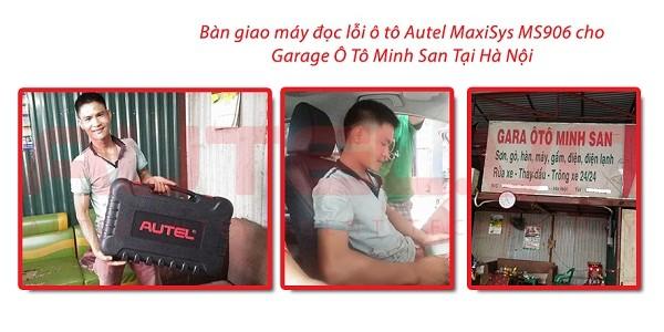 Bàn giao máy đọc lỗi ô tô Autel Maxisys MS906 cho Garage Ô Tô Minh San tại Hà Nội