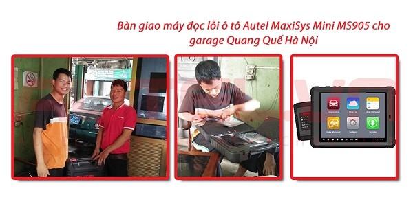 Bàn giao máy đọc lỗi MaxiSys Mini MS905 cho garage Quang Quế Hà Nội