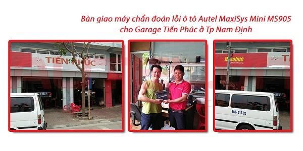 Bàn giao máy chẩn đoán lỗi ô tô Autel MaxiSys Mini MS905 cho Garage Tiến Phúc ở Nam Định