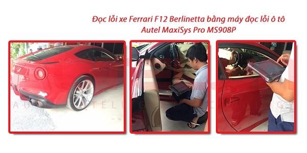 Test xe Ferrari F12 Berlinetta bằng máy đọc lỗi ô tô Autel MaxiSys Pro MS908P