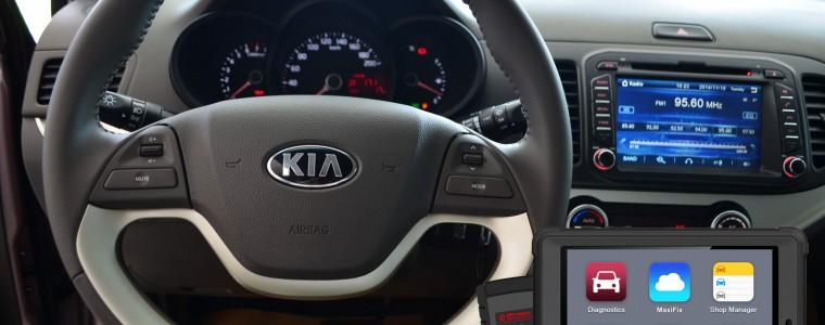Test xe Kia Morning 2015 bằng thiết bị đọc lỗi ô tô Autel MaxiSys Mini MS905