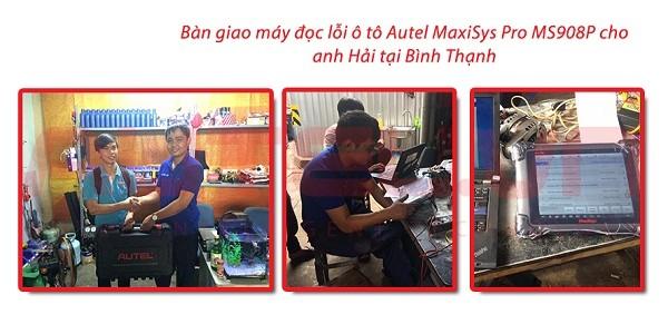 Bàn giao máy đọc lỗi ô tô Autel MaxiSys Pro MS908P cho anh Nguyễn Tiến Hải tại Bình Thạnh