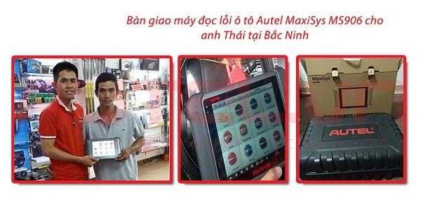 Bàn giao máy đọc lỗi ô tô Autel Maxisys MS906 cho anh Thái tại Bắc Ninh