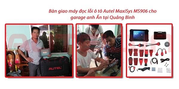 Bàn giao máy đọc lỗi ô tô Autel MaxiSys MS906 garage anh Ấn tại Quảng Bình