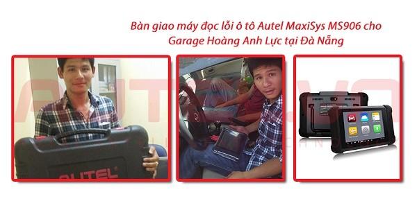Bàn giao máy đọc lỗi ô tô Autel MaxiSys MS906 cho Garage Hoàng Anh Lực tại Đà Nẵng