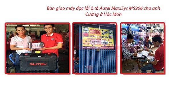 Bàn giao máy đọc lỗi ô tô Autel MaxiSys MS906 cho Anh Cường tại Hóc Môn