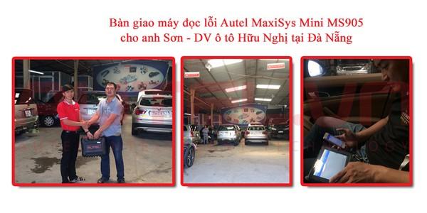 Bàn giao máy đọc lỗi ô tô Autel MaxiSys Mini MS905 cho anh Sơn – DV ô tô Hữu Nghị tại Đà Nẵng