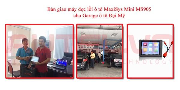 Bàn giao máy đọc lỗi ô tô Autel MaxiSys Mini MS905 cho Garage ô tô Đại Mỹ