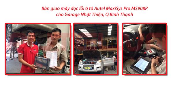 Bàn giao máy đọc lỗi ô tô Autel MaxiSys MS908P cho Garage Nhật Thiện, Q. Bình Thạnh