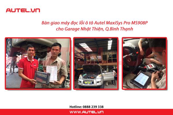 ban-giao-may-doc-loi-o-to-maxisys-ms908p-cho-garage-nhat-thien-1