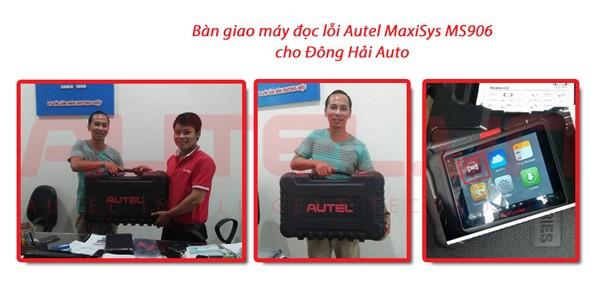 Bàn giao máy đọc lỗi Autel MaxiSys MS906 cho Đông Hải Auto