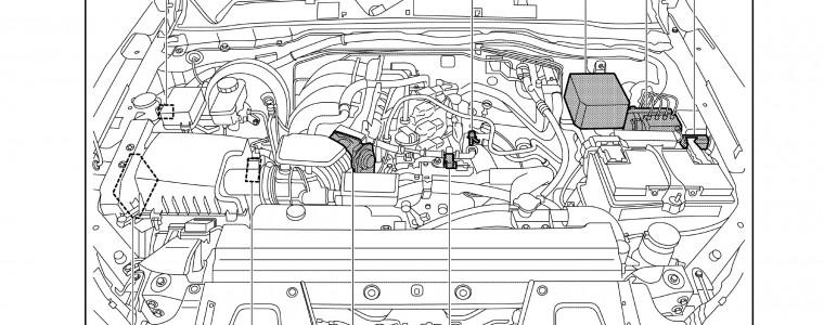Sơ đồ điện hệ thống điều khiển động cơ Nissan Navara 2016 D23