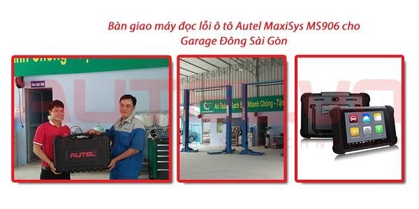 Bàn giao máy đọc lỗi ô tô Autel MaxiSys MS906 cho Garage Đông Sài Gòn