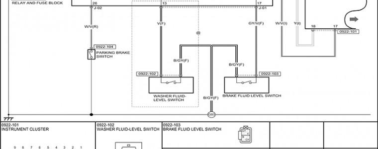 Sơ đồ điện hệ thống đồng hồ công tơ mét Mazda BT-50 2013
