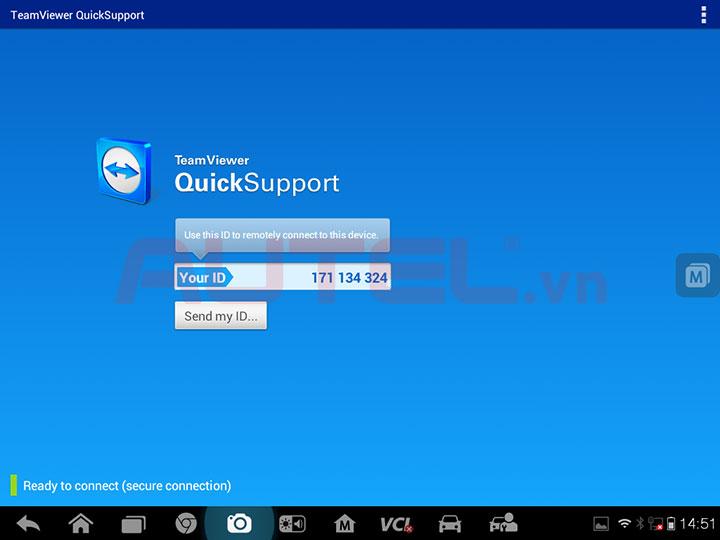 autel maxisys pro ms908p hỗ trợ điều khiển từ xa qua teamviewer