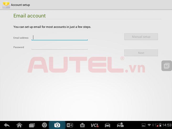 autel 908p có chức năng hỗ trợ gmail