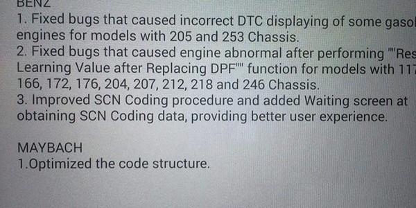 Mercedes SCN coding đã cập nhật mới rất nhiều trên Autel MaxiSys MS908P