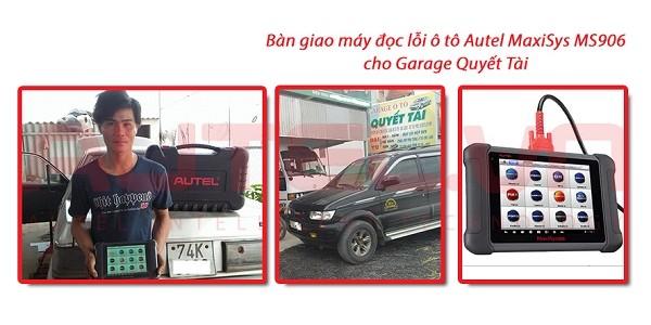 Bàn giao máy đọc lỗi ô tô MaxiSys MS906 cho Garage Quyết Tài