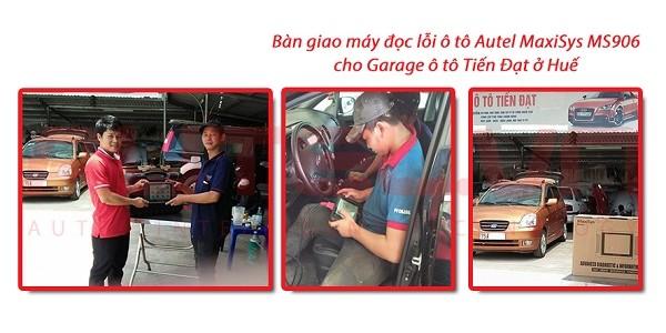 Bàn giao máy đọc lỗi ô tô Autel MaxiSys MS906 cho Gara Tiến Đạt ở Huế