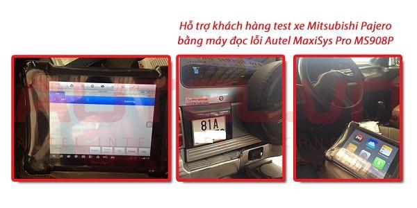Hỗ trợ khách hàng test xe Mitsubishi Pajero