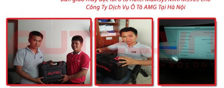Bàn giao máy đọc lỗi ô tô Autel Maxisys Mini MS905 cho Công ty dịch vụ ô tô AMG tại Hà Nội