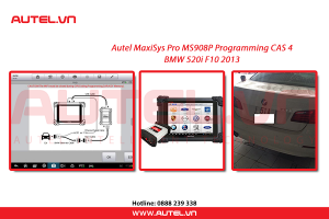 Autel MaxiSys Pro MS908P Programming CAS 4 BMW 520i F10 2013