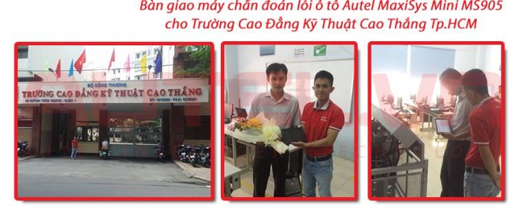 Bàn giao máy chẩn đoán Autel MaxiSys Mini MS905 cho trường Cao Thắng