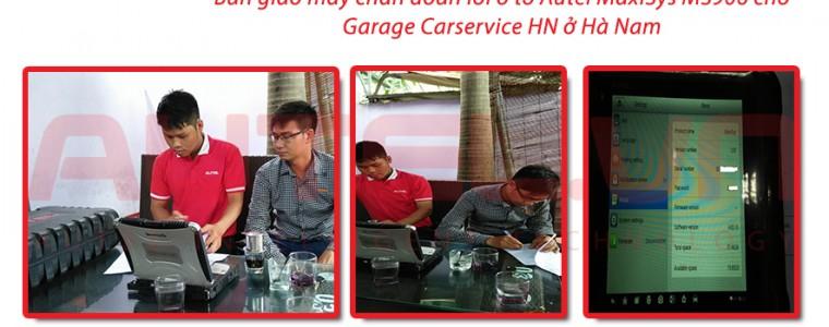 Bàn giao máy chẩn đoán lỗi ô tô Autel MaxiSys MS906 cho Garage Carservice HN ở Hà Nam