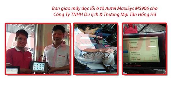 Bàn giao máy đọc lỗi ô tô Autel Maxisys MS906 cho Công ty TNHH Du Lịch & Thương Mại Tân Hồng Hà