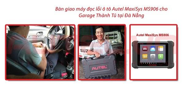 Bàn giao máy đọc lỗi ô tô Autel MaxiSys MS906 cho Garage ô tô Thành Tú tại Đà Nẵng
