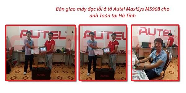 Bàn giao máy đọc lỗi ô tô Autel MaxiSys MS908 cho anh Toàn tại Hà Tĩnh