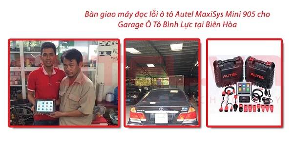 Bàn giao máy đọc lỗi ô tô Autel MaxiSys Mini MS905 cho Garage Ô Tô Bình Lực Phát ở Biên Hòa