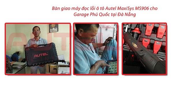 Bàn giao máy đọc lỗi ô tô Autel MaxiSys MS906 cho Garage Phú Quốc tại Đà Nẵng
