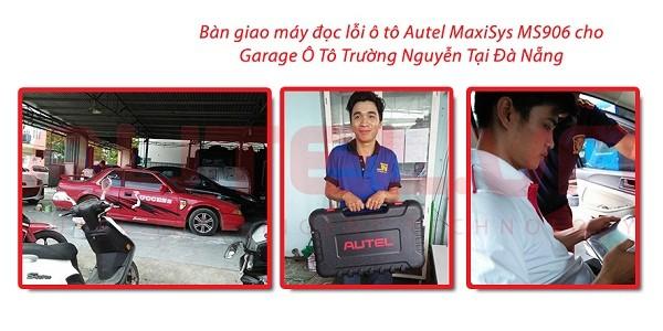 Bàn giao máy đọc lỗi ô tô Autel MaxiSys MS906 cho Garage Ô Tô Trường Nguyễn Tại Đà Nẵng