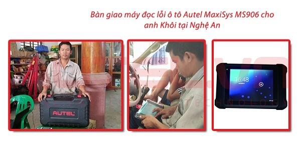 Bàn giao máy đọc lỗi ô tô Autel MaxiSys MS906 cho Anh Khôi tại Nghệ An