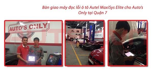 Bàn giao máy đọc lỗi ô tô Autel MaxiSys Elite cho Auto's Only tại Quận 7