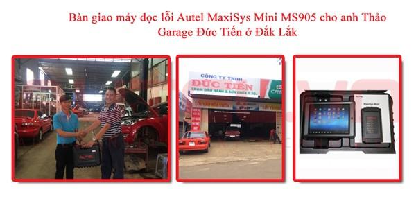 Bàn giao máy đọc lỗi Autel MaxiSys Mini MS905 cho anh Thảo, Garage Đức Tiến ở Đắk Lắk