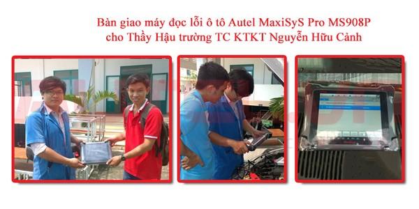Bàn giao máy đọc lỗi ô tô Autel MaxiSys Pro MS908P cho Thầy Hậu trường TC KTKT Nguyễn Hữu Cảnh