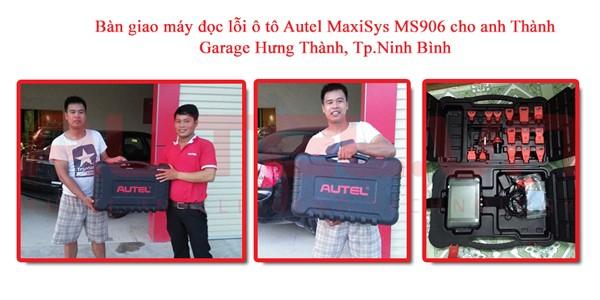 Bàn giao máy đọc lỗi ô tô Autel MaxiSys MS906 cho anh Thành, Garage Hưng Thành, Tp.Ninh Bình