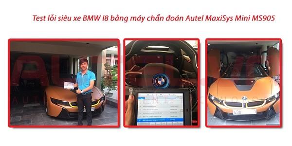 Test lỗi siêu xe BMW I8 bằng máy chẩn đoán Autel MaxiSys Mini MS905