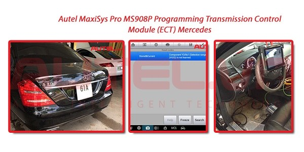 Autel MaxiSys Pro MS908P Programming Transmission Control Module (ECT) Mercedes