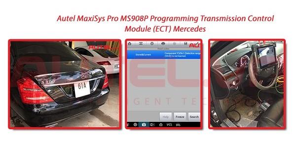 Autel MaxiSys Pro MS908P Programming Transmission Control Module (ECT) Mercedes