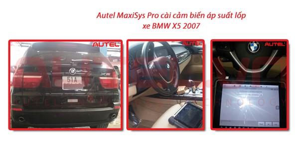 Autel MaxiSys Pro cài cảm biến áp suất lốp xe BMW X5 2007