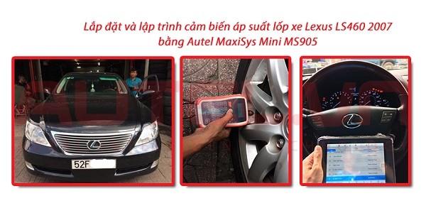 Lắp đặt và lập trình cảm biến áp suất lốp xe Lexus LS460 2007