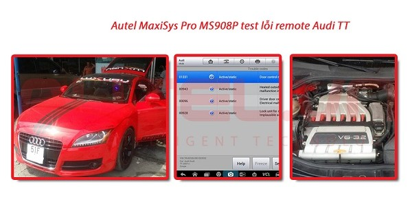 Autel MaxiSys Pro MS908P test lỗi remote Audi TT năm 2008