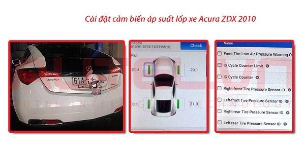 Cài đặt cảm biến áp suất lốp xe Acura ZDX 2010