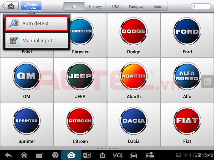 Công nghệ tự động nhận dạng số VIN trên các dòng máy MaxiSys